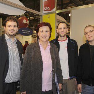 Guido van den Berg, Heidemarie Wieczorek-Zeul, Martin Krupp und Martin Lauscher