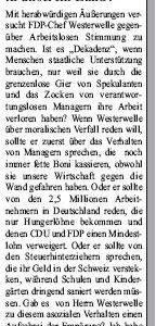 Anzeige in der Sonntags-Post vom 20.02.2010