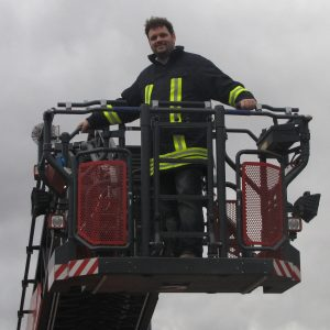 Guido van den Berg bei der Feuerwehr Bergheim