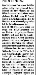 Anzeige in der Sonntags-Post vom 27.03.2010