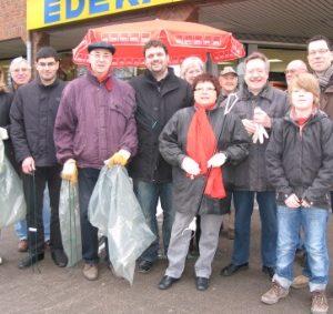 Frühjahrsputz der SPD in Sinnersdorf