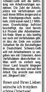 Anzeige zu Ostern am 03.04.2010