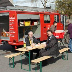 In Pulheim auf dem Marktplatz