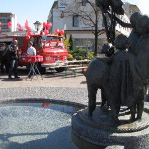 Zentrale Lage des SPD-Standes auf dem Bergheimer Frühlingsmarkt