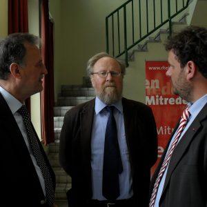 Wilfried Effertz, Wolfgang Thierse und Guido van den Berg