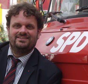 Feuerrot und einsatzbereit: Guido van den Berg