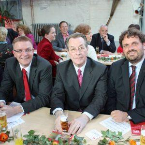 Peter auf der Landwehr, Franz Müntefering und Guido van den Berg