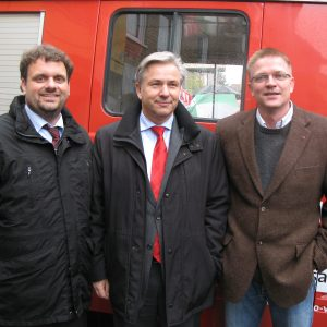 Klaus Wowereit mit Peter auf der Landwehr und Guido van den Berg