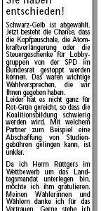 Anzeige in der Sonntags-Post vom 18.05.2010