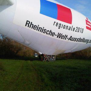 Ein Zepelin der Regionalen 2010 stand bereit