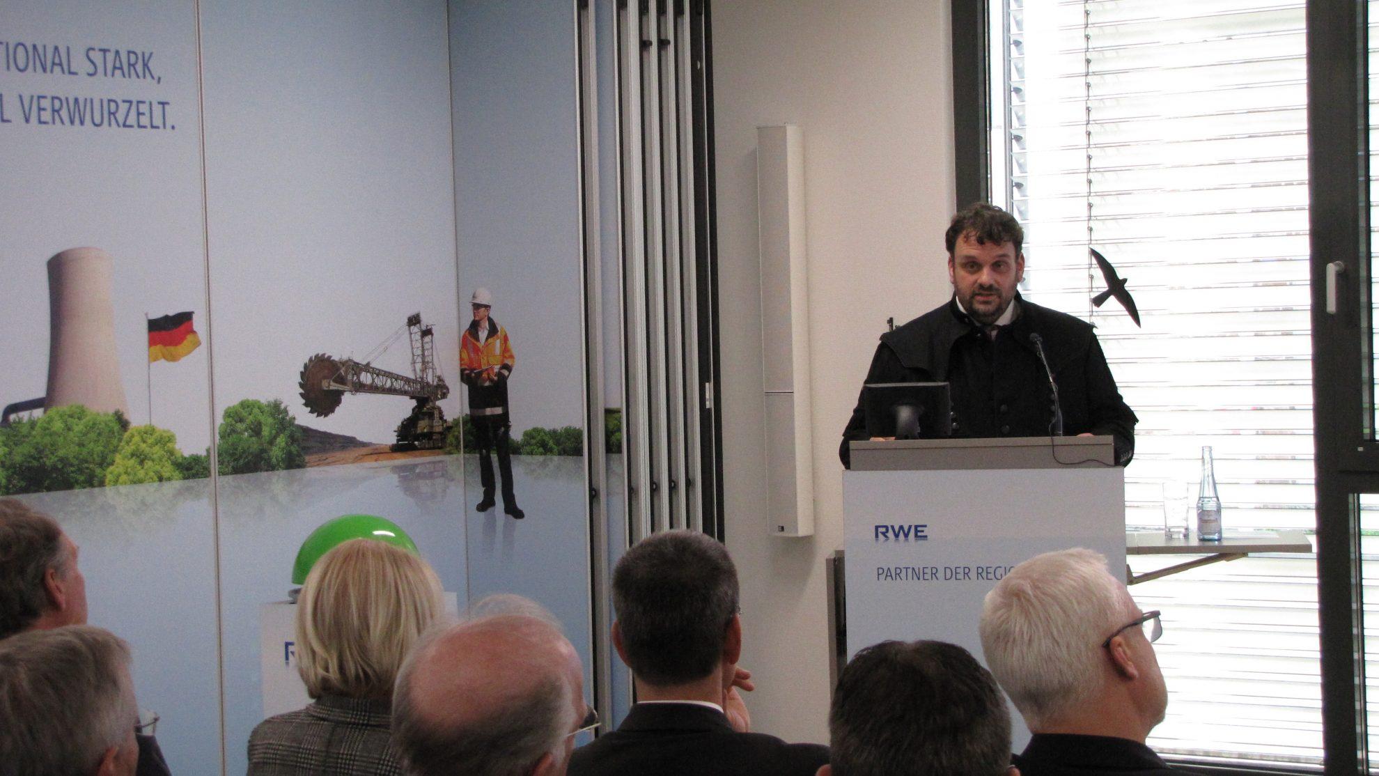 Rede zum Anlass der Inbetriebnahme des Syntheseteststands und Einrichtung der Stiftungsprofessur