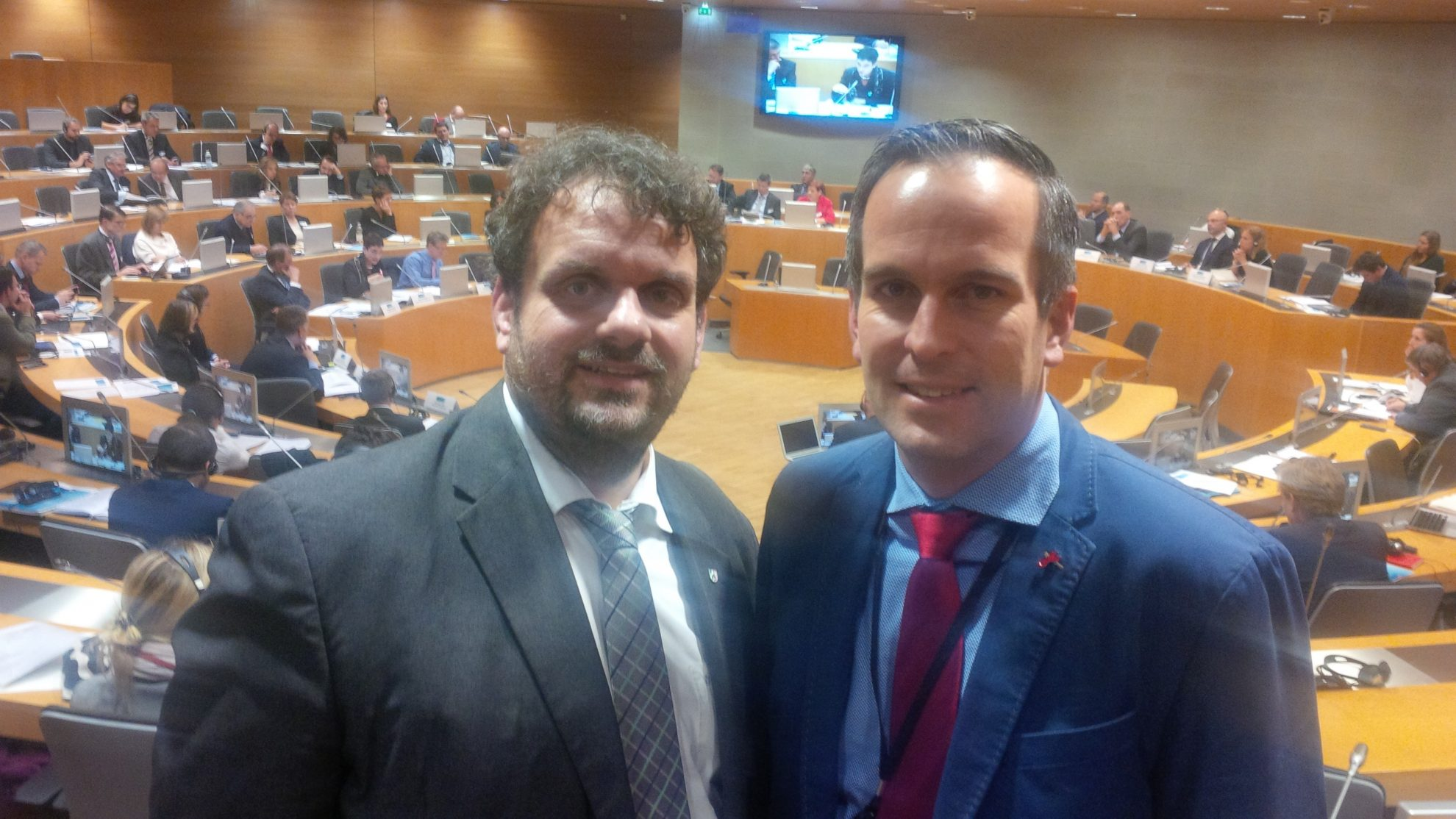 Guido van den Berg MdL mit Arndt Kohn MdEP in Straßburg